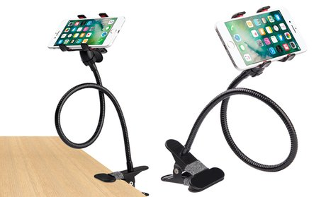 Universal Lazy Bracket Flexible Clip Holder for Phones and Tablets