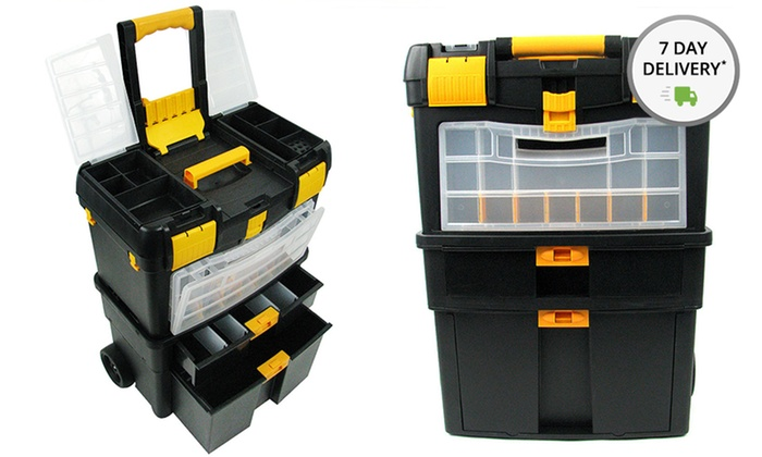 Stalwart Deluxe Mobile Workshop and Toolbox: Stalwart Deluxe Mobile Workshop and Toolbox. Free Returns.