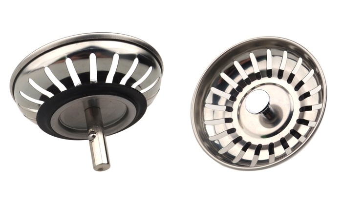 One, Two, Three or Four Stainless Steel Drain Waste Plugs from £1.99