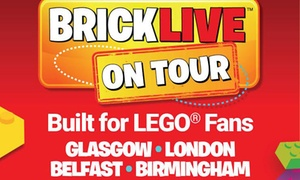 BRICKLIVE: BRICKLIVE 2017, 20 July–29 October in Glasgow, London, Belfast or Birmingham (Up to 15% Off)
