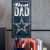 "12""x6"" NFL Best Dad Sign"