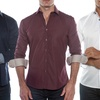 Isaac b. Men's 100% Cotton Button-Down Shirts