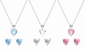 (Bijou)  Parure cristaux Swarovski® -89% réduction