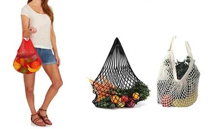 1 o 2 sacchetti per la spesa a rete e in cotone disponibili in 3 colori