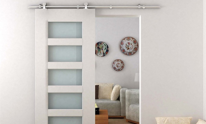 Up To 58% Off On Sliding Barn Door System Kits | Groupon Goods