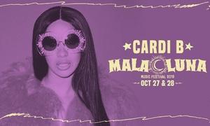 Mala Luna Music Fest –Cardi B, 2 Chainz, Lil Pump, Nicky Jam, & More at Mala Luna Music Fest feat. Cardi B, 2 Chainz, Lil Pump, Nicky Jam, Tyler, The Creator, and More, plus 6.0% Cash Back from Ebates.