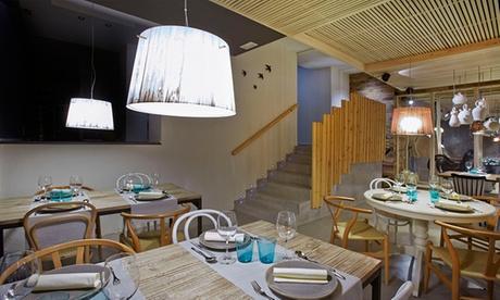 Menú con aperitivos, entrantes, postres y bebidas desde 39,90 € con el chef estrella Michelin Josep Quintana en Colón Oferta en Groupon