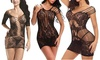 Women's Plus Size Fishnet Bodystocking Lingerie