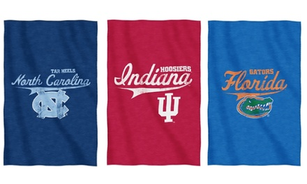 NCAA Sweatshirt Throw Blanket