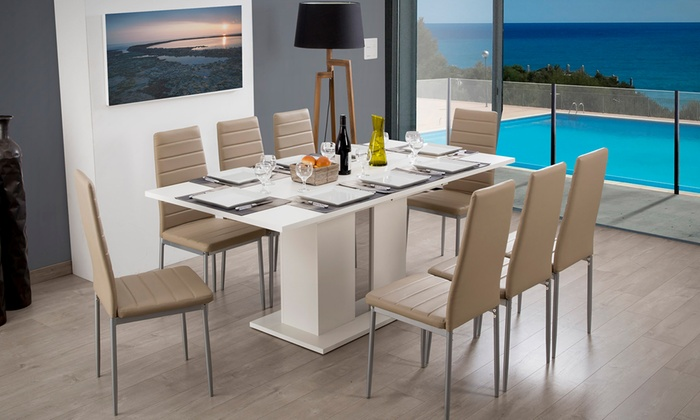 Avec Table ChaisesGroupon Extensible Avec Table Extensible mP0v8nNwyO