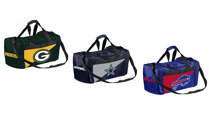 77b4ef80350a Up To 28% Off on NFL 2-Tone Duffle Bags