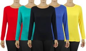 Women's Lightweight Long-Sleeve Stretch Tees