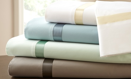 Italian Fine Linens 600-TC 100% Egyptian Cotton Sheet Sets with Satin Ribbon. Free Returns.