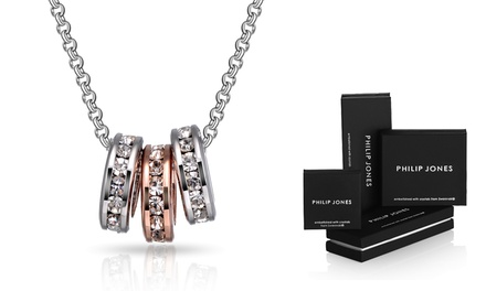 Triple Hoop Necklace with Crystals from Swarovski®