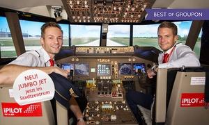 iPilot (Zentrale): 30, 60 oder 90 Min. Erlebnisflug im neuen Jumbo Jet-Flugsimulator in München bei iPilot (bis zu 54% sparen*)