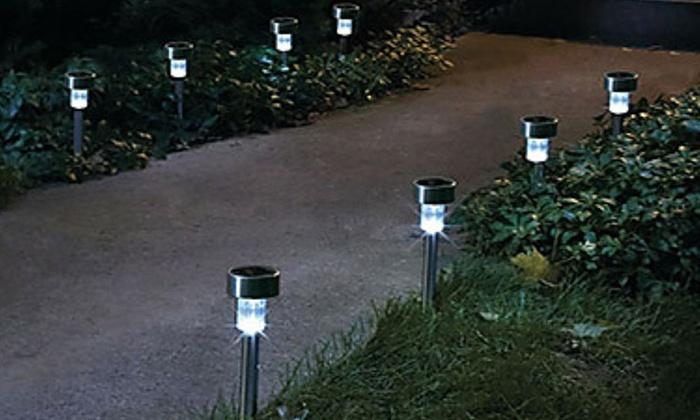O luci da giardino a energia solare groupon goods