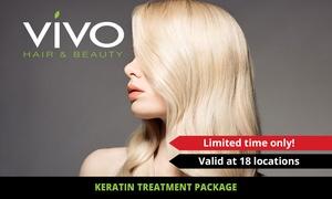 Vivo Hair and Beauty: Keratin Treatment Pkg ($129) + Take-Home Kerasilk Products ($158) at Vivo Hair and Beauty (Up to $355 Value)