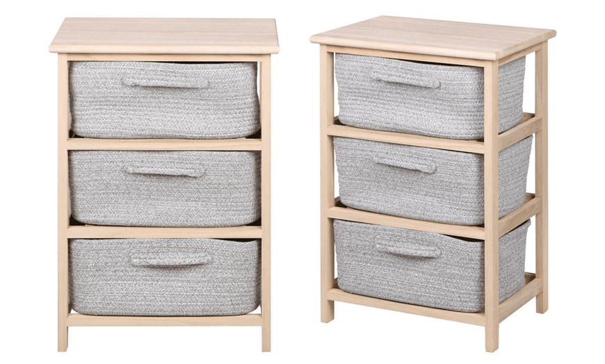 Three-Tier Storage Rack with Basket Drawers