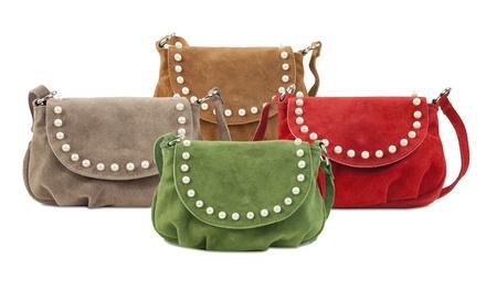 Damen-Handtasche aus Nubukleder (Statt: 99,00 € Jetzt: 29,90 €)