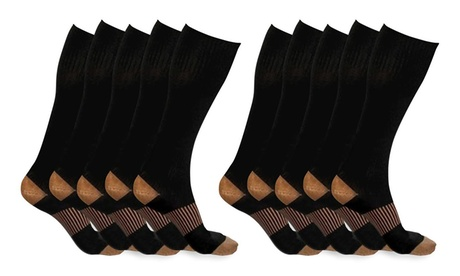 XFit Copper-Infused Compression Socks (5-Pack)