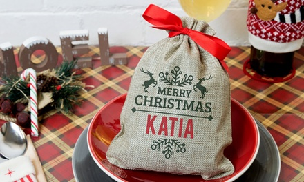 Personalised Mini Christmas Sack: One ($7), Two ($12) or Four ($22) (Don't Pay up to $73.52)