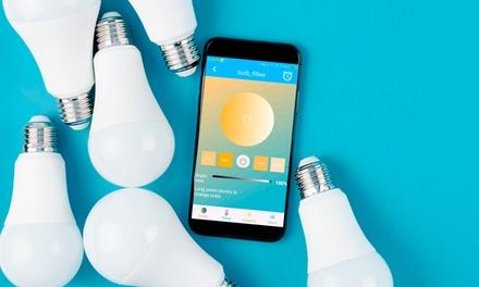 1 o 2 bombillas wifi RGB con adaptador