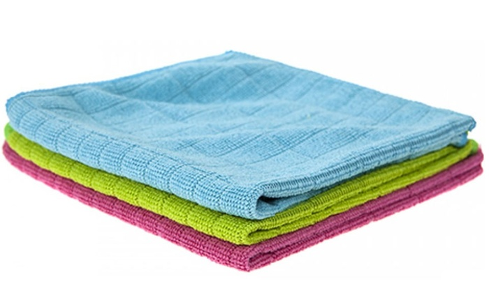 Up to 12 Three-Packs of Microfibre Cleaning Cloths for £6