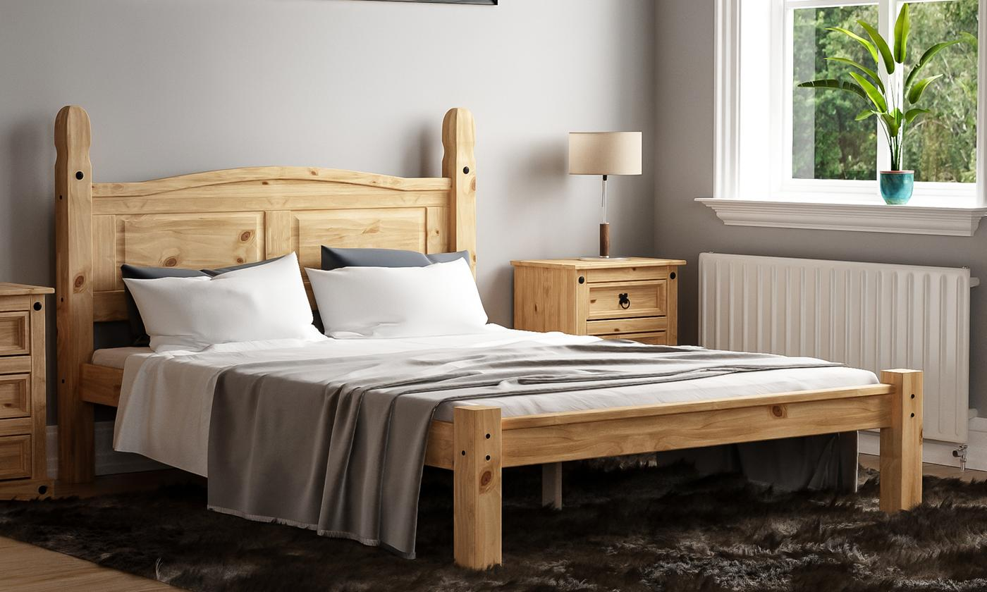 Mexican-Style Corona Bedframe in Choice of Size from £129 (42% OFF)