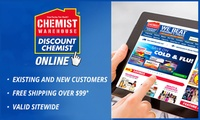 $10 to Spend at Chemist Warehouse Online with Free Shipping on Purchases Over $99