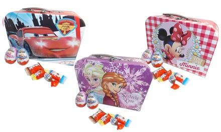 1, 2 ou 4 valisettes La Reine des Neiges, Cars, Minnie et Princesses garnies de chocolats Kinder®, dès 22,99 €