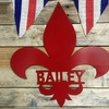 Up to 60% Off Personalized Family Name Fleur-de-Lis Metal Sign