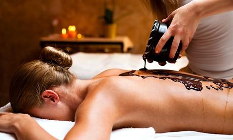 1 o 2 sesiones de 'terapia bombón chocolate' con masaje de chocolate y envoltura de bombón desde 24,95€ en El Galeón