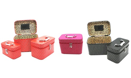 Three-Piece Cosmetics and Accessories Travel Organizers from AED 169 (Up to 73% Off)