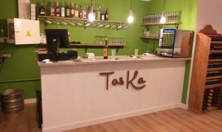 Menú para 2 personas con 3 principales, postre y botella de vino en Taska Tapas Concept (hasta 63% de descuento)