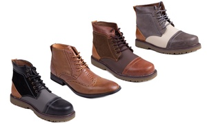 Flying Deer Men's Lace-Up Boots