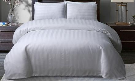 Pieridae 300TC So Soft Satin Stripe Duvet Set