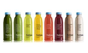 Frank Juice: Wertgutschein über 30 €, 60 € oder 80 € anrechenbar auf 1-, 3- bzw. 5-Tageskuren im Online-Shop Frank Juice (50% sparen)