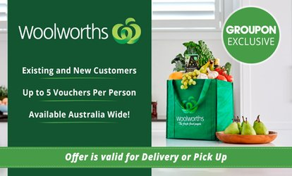 Woolworths Online: $5 for $20 to Spend on Groceries - Min. Spend $220 - Existing and New Customers