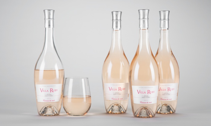 Barclays Wine: $59 for Four Bottles of Villa Ruby Caresse de Rosé with Shipping Included from Barclays Wine ($155.91 Value)