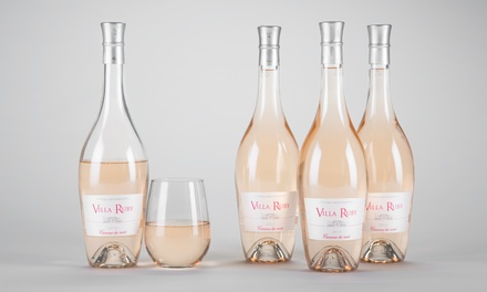 $59 for Four Bottles of Villa Ruby Caresse de Rosé with Shipping Included from Barclays Wine ($155.91 Value)
