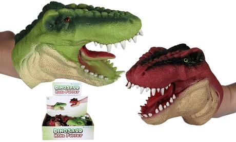 1 o 2 marionetas de guante de dinosaurio Oferta en Groupon