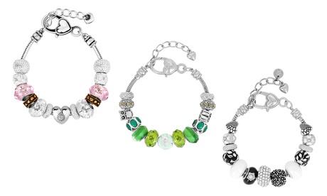 1 o 2 pulseras con charms de cristal de murano