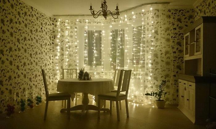 10Ft 300 LED Warm White String Curtain Lights