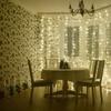 10Ft. 300-LED Warm White String Curtain Lights