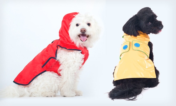 Dog Raincoats: $4.99 for a Dog Raincoat (Up to  $26.99 List Price). Two Styles and Multiple Colors Available. Free Returns.