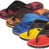 Bertelli Men's Flip-Flops with Stitched Straps or Bi-Layered Sole