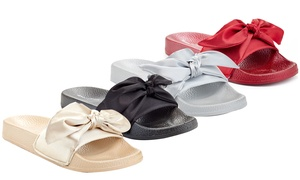 Women's Bow Tie Slide Sandals
