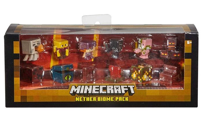 TitoloFigurine Minecraft Mattel Nether Biome Pack