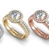 1.50 CTTW Pavé Diamond Bridal Set