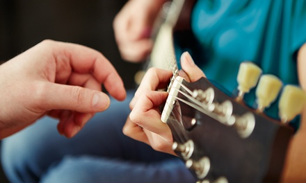 Three 30-, 45-, or 60-Minute Guitar or Bass Lessons at Blue Guitar Studio (Up to 51% Off)